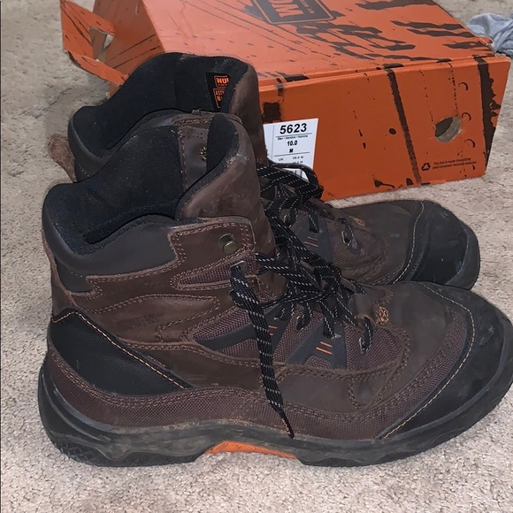 798c824f2a4 WORX by Red Wing Steel Toe boots size 10